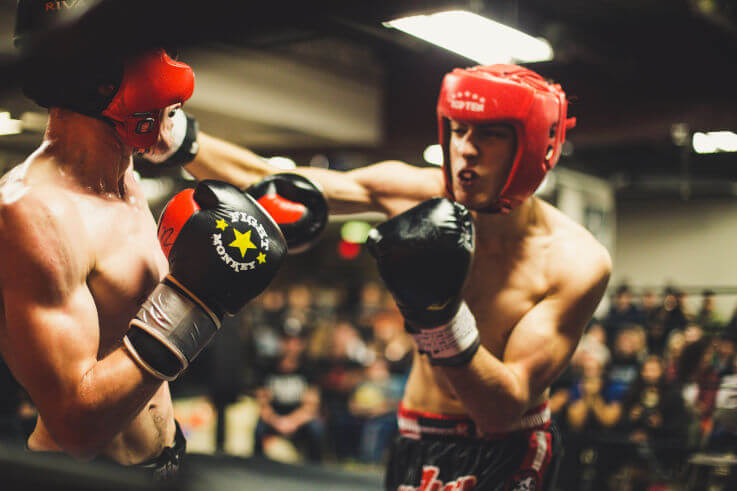 Debt consolidation is the best way to manage debt - Boxing match