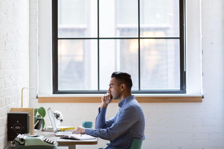 Is a debt agreement a good idea - Man working at desk