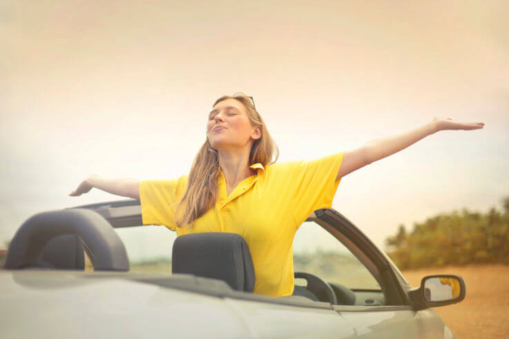 Is convertible debt right for you - Woman in convertible car