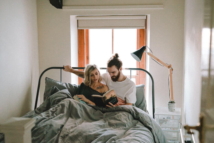 Mortgage reduction - Couple in bed