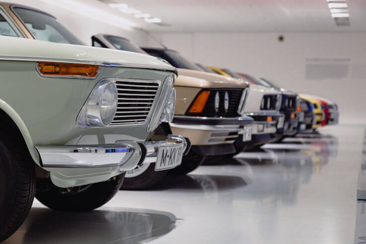 When filing bankruptcy what can you keep - Row of vintage cars